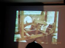 """Proyección del vídeo realizado por el alumnado de 3º ESO: """"Los batanes en el tiempo"""" dirigido por el profesor D. Luis Gómez Gallego)"""