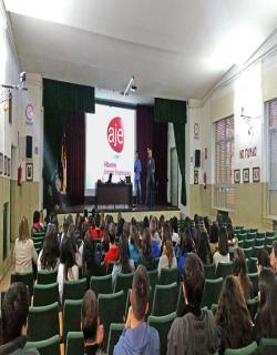 Taller de AJE en el IES Tomás Navarro Tomás de Albacete, 26/10/2015